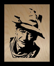 John Wayne #2 - Scroll Saw Portraits - Active Message Board list